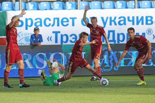 Товарищеский матч между сборной России и сборной Болгарии