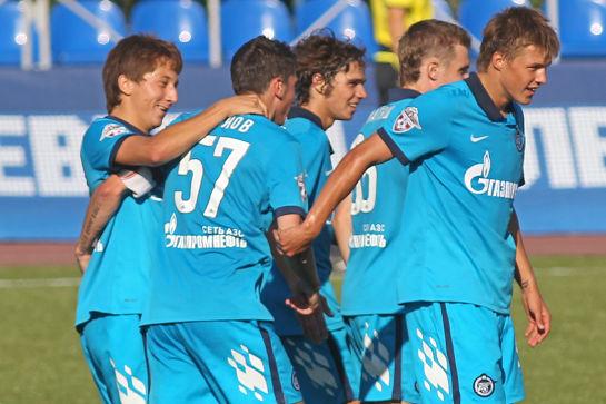 Первенство молодежных составов 2010 года. Футбольный матч Зенит-