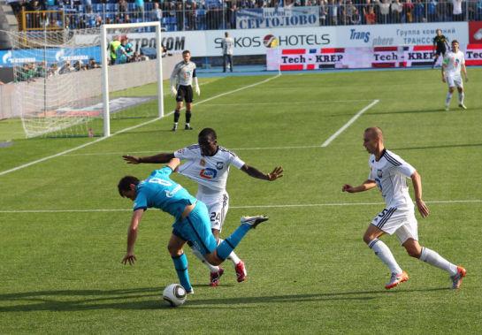 Футбольный матч Чемпионата России 2010 года, 22 тур. Матч Зенит-Сатурн