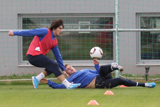 Тренировка Зенит перед матчем  Лиги Европы УЕФА 2010,  АЕК - Зенит