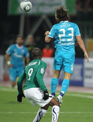 Чемпионат России 2011-2012, матч Терек  - Зенит
