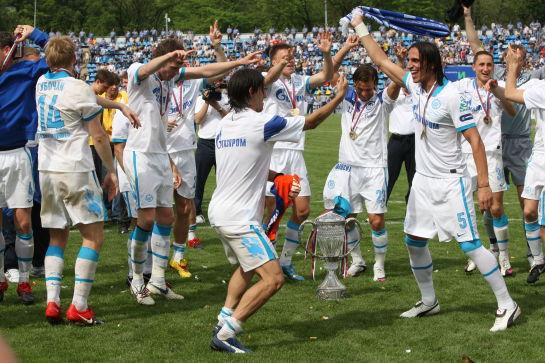Церемония награждения Зенита,  Кубоком России 2009/2010