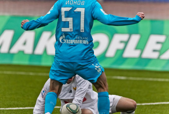 Матча 31-го тура первенства России среди молодежных команд клубов премьер-лиги Зенит - Анжи