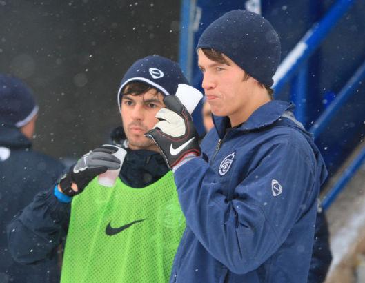 Первая тренировка молодежного состава в 2012 году