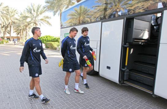 Первая тренировка ФК Зенит в Дубаи