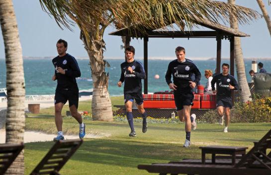 Сбор в Дубае: утренняя тренировка