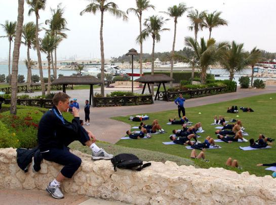Сборы в Дубае: 22 января, утреняя тренировка