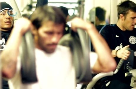 Зенит во Флоренции тренировка в тренажерном зале