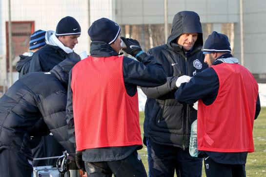 Тренировка основного состава ФК Зенит на базе в Удельном парке в предверии матча с Бенфикой