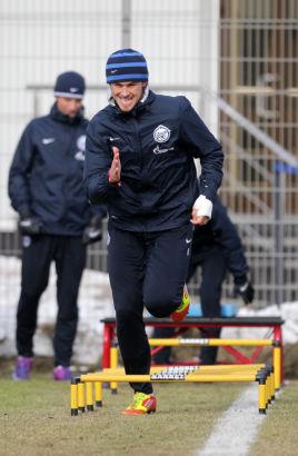 Открытая тренировка перед матчем 35-го тура с «Динамо»