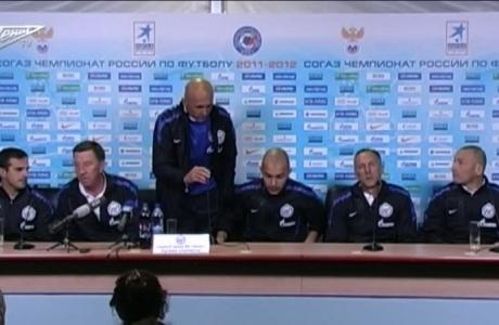 Пресс-конференция тренерского штаба сине-бело-голубых после чемпионского матча Зенит Динамо