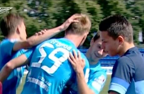 Видеообзор матча 2 тура первенства молодежных команд Зенит-м Динамо-м