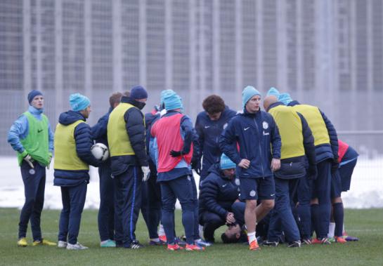 Тренировка перед матчем «Зенит» — «Ростов»
