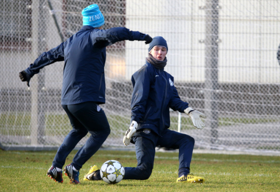Тренировка перед матчем 5-го тура Лиги чемпионов УЕФА «Зенит» — «Малага»