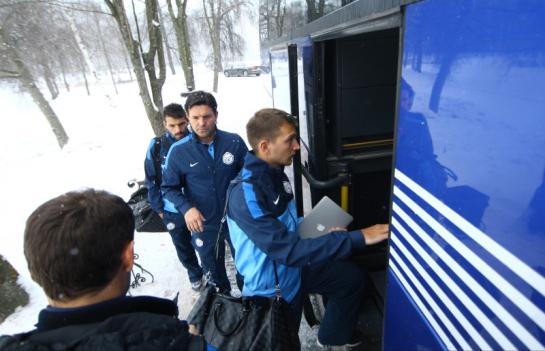 Отъезд команды на матч  «Зенит» - «Ливерпуль»