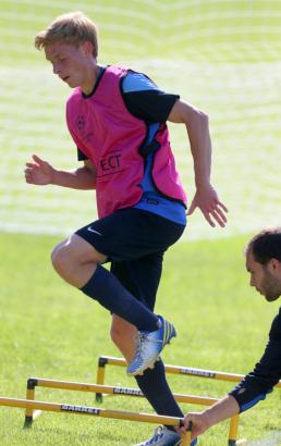 Тренировка «Зенита» передматчем «Зенит»— «Пасуш де Феррейра».