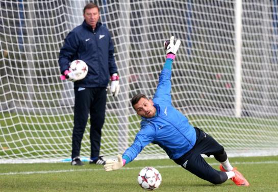 Тренировка  «Зенита» перед  матчем Лиги чемпионов УЕФА 2013/2014, «Зенит» — «Аустрия»
