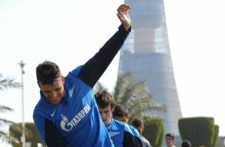 Сборы в Дохе: 16 января, утренняя тренировка