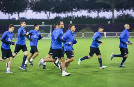 Сборы в Дохе: 19 января, вечерняя тренировка