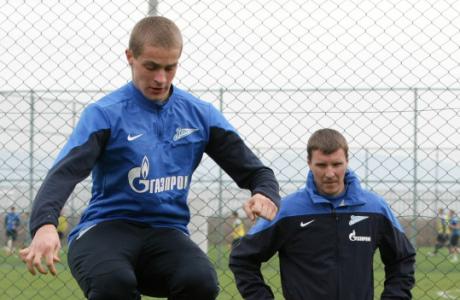 Сборы «Зенит» -2 в Турции, тренировка вратарей<br />