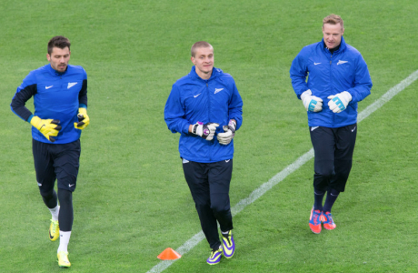 Тренировка «Зенита» перед матчем с «Боруссией»