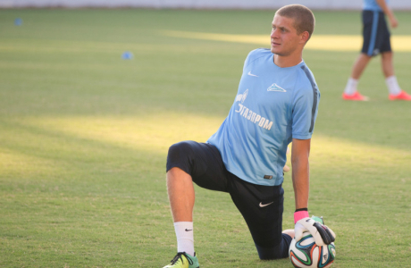 Тренировка «Зенита» перед матчем с АЕЛ