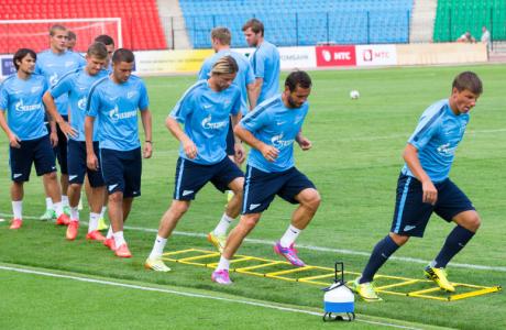 Тренировка «Зенита» перед матчем с «Арсеналом»