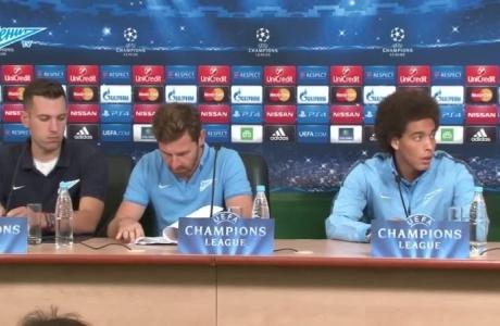Пресс-конференция Акселя Витселя и Андре Виллаш-Боаша перед матчем со «Стандардом»
