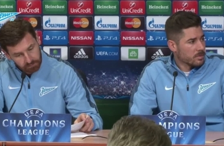 Андре Виллаш-Боаш и Хави Гарсия перед матчем с «Бенфикой»