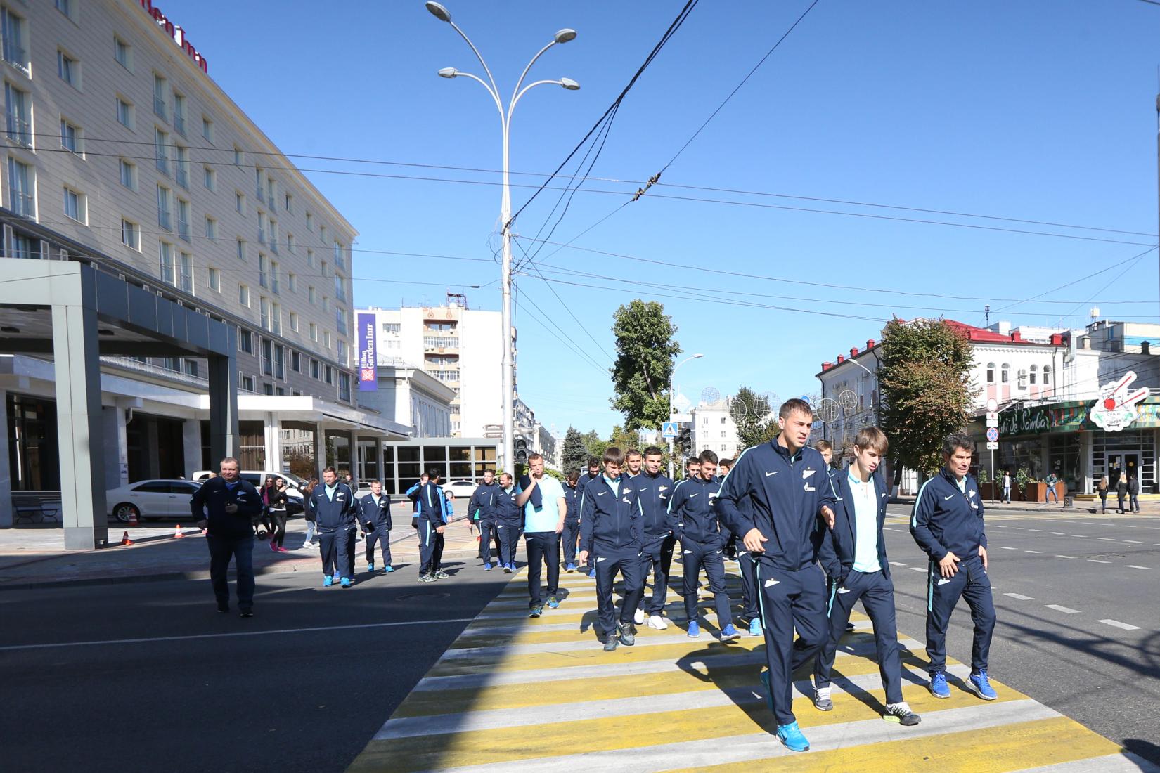 «Зенит» прогулялся по Краснодару перед матчем с «Кубанью»