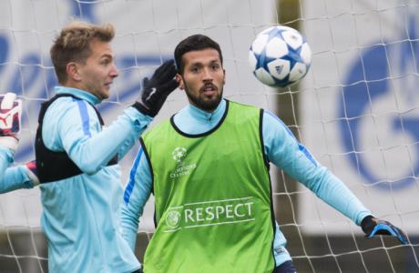 Открытая тренировка «Зенита» перед матчем Лиги Чемпионов УЕФА с «Лионом»