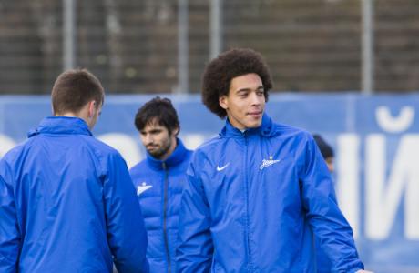 Тренировка «Зенита» перед матчем с «Мордовией»