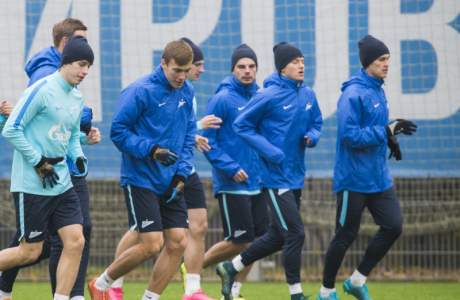 Тренировка «Зенита» перед матчем с «Локомотивом»