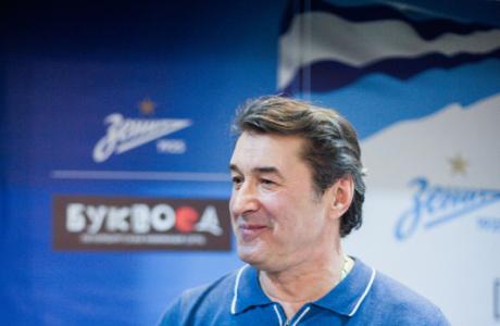 Вячеслав Малафеев и Анатолий Давыдов на презентации книги «Зенит. Азбука болельщика» в «Буквоеде»