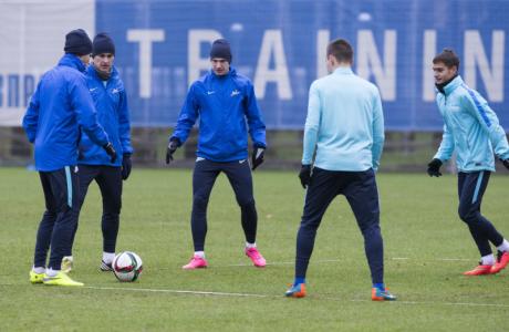 Тренировка «Зенита» перед матчем с «Уфой»