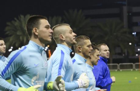 «Газпром»-тренировочные сборы в Дохе: 12 января, вечерняя тренировка