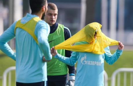 «Газпром»-тренировочные сборы в Дохе: 13 января, утренняя тренировка
