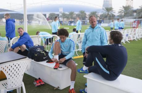 «Газпром»-тренировочные сборы в Дохе: 16 января, вечерняя тренировка