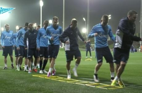 «Зенит-ТВ»: первый тренировочный день в Дохе