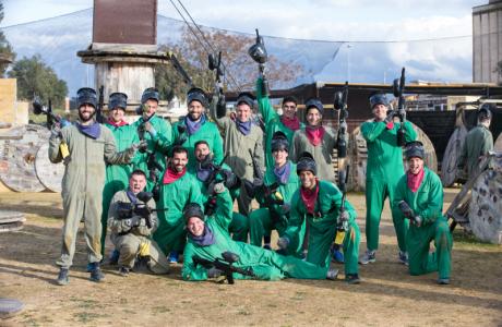 Сборы в Испании: командный турнир по пейнтболу