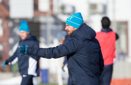 Тренировка перед матчем,  «ПСВ» — «Зенит»