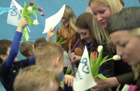 «Зенит-ТВ»: ученики Академии поздравили мам с 8 марта