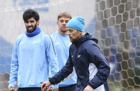 Тренировка «Зенита» перед матчем Лиги Европы УЕФА  1/4 финала, «Зенит» — «Севилья»