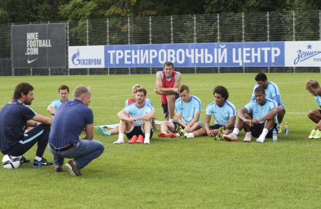 Тренировка «Зенита» перед матчем с «Динамо»