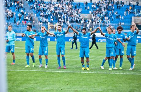 Болельщики на матче «Зенит» — «Динамо»