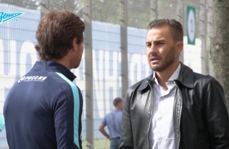 Видео дня на «Зенит-ТВ»: Фабио Каннаваро на тренировке сине-бело-голубых