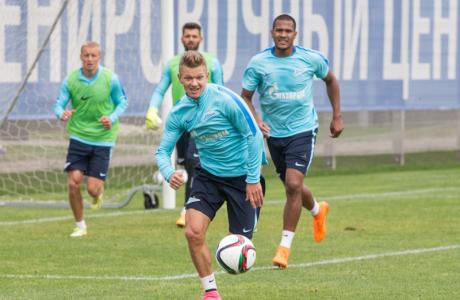Открытая тренировка «Зенита», перед матчем с «Тереком»