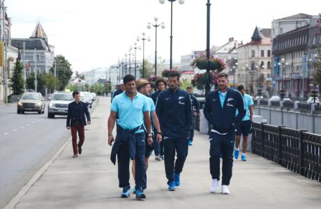 Перед «Рубином»: фоторепортаж с прогулки команды по Казани